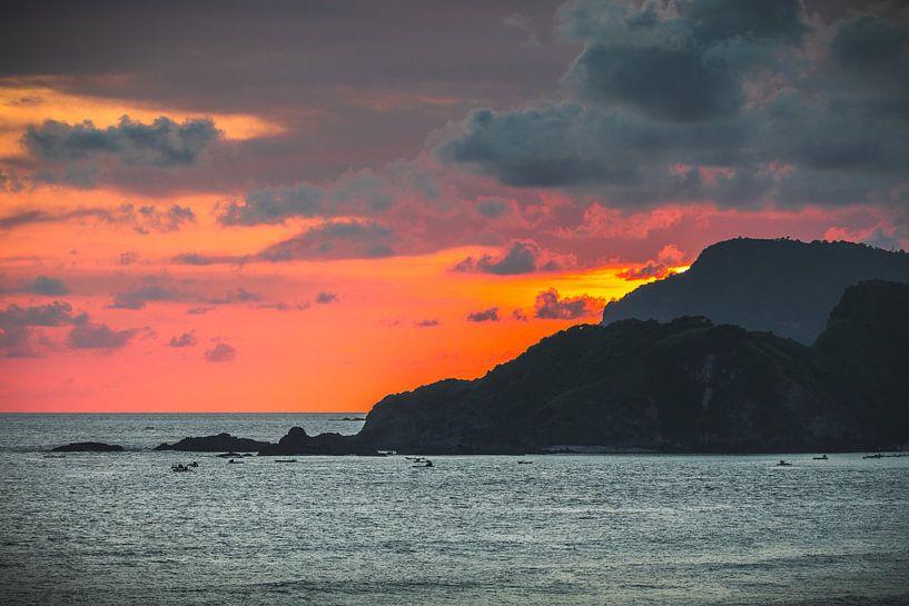 Lombok zonsondergang van Andy Troy