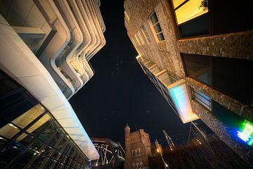 Cassiopeia en de Pleiades sterrenbeelden in Nijmegen