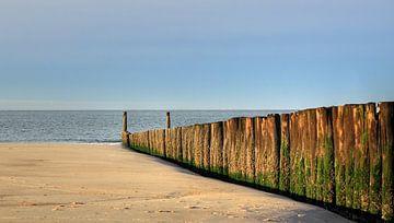 Golfbreker strand Zoutelande van MSP Canvas