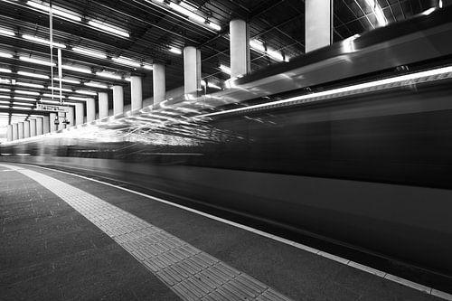 Metro in zwart wit van