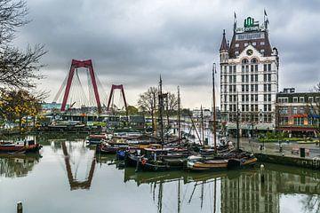 Oude haven Rotterdam van Arthur Wolff