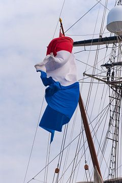 Nederlandse vlag in de wind van Brian Morgan