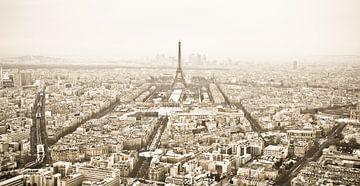 Winterpanorama Paris (sepia) von Arja Schrijver Fotografie