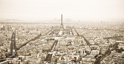 Winterpanorama Parijs (sepia)