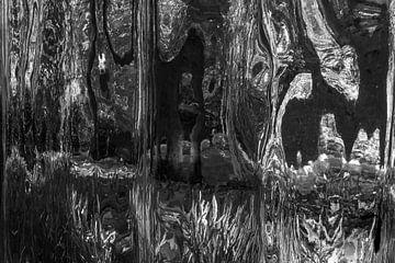 Schwarz/Weiss Abstrakt 2 von Alice Berkien-van Mil