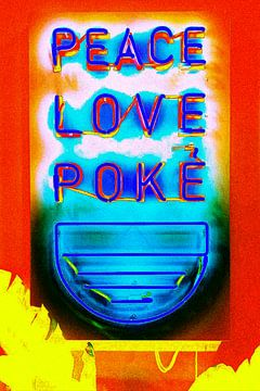 Peace Love an Poke van Truckpowerr