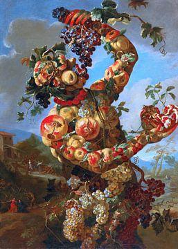 Lo Spadino, eine anthropomorphe Allegorie des Herbstes - Teil des Quadriptychons von Atelier Liesjes