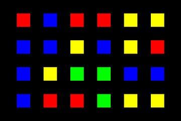 Nested | Center | 06x04 | N=01 | Random #01 | RGBY van Gerhard Haberern