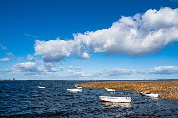 Boats on the Baltic Sea coast in Denmark van Rico Ködder