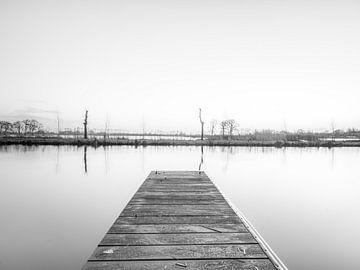 Reeuwijk-Seen schwarz-weiß von Patrick Herzberg
