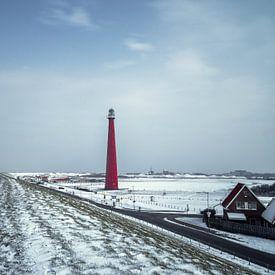 Winter auf dem Zeedijk von Klaas Fidom