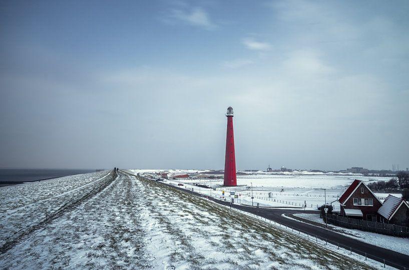 L'hiver sur le Zeedijk sur Klaas Fidom