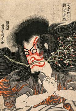 Gototei Kunisada.Berühmte Kabuki-Spiele