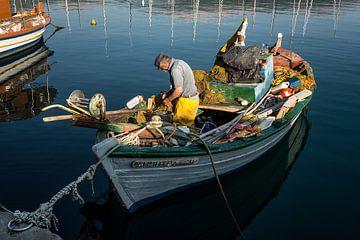 visser Kefalonia, Griekenland van Hans Vos Fotografie