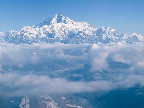 Luchtfoto Denali in Alaska van