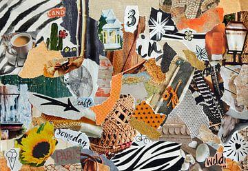 Inspiratie recycling collage in zomer vakantie sfeer van Trinet Uzun