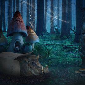 Märchenhafter Wald von Angela Dölling