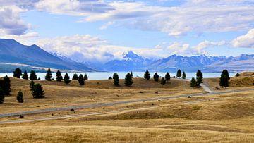 De berg Mt. Cook vanaf het meer Lake Pukaki - Nieuw Zeeland van Be More Outdoor
