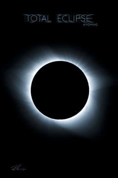 Total Eclipse  Wyoming- Corona van