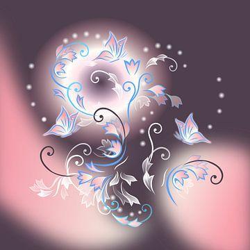 """"""" Moonflower"""" vor dunklem Hintergrund van Nina Baydur"""