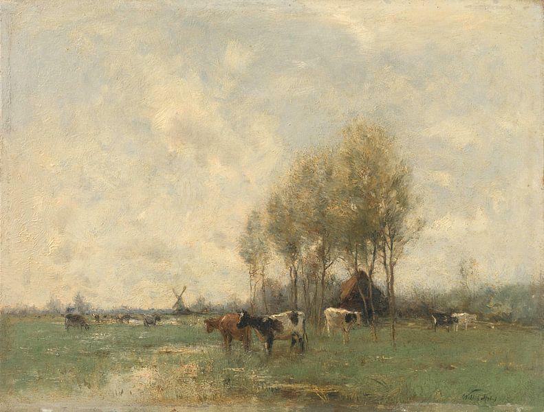 Weide met koeien, Willem Maris van Meesterlijcke Meesters