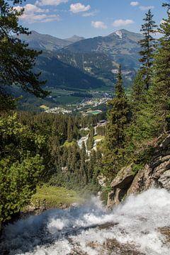 Watervallen van Krimml van Ben van Boom