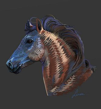 Koperen paard van Linda van Kleef