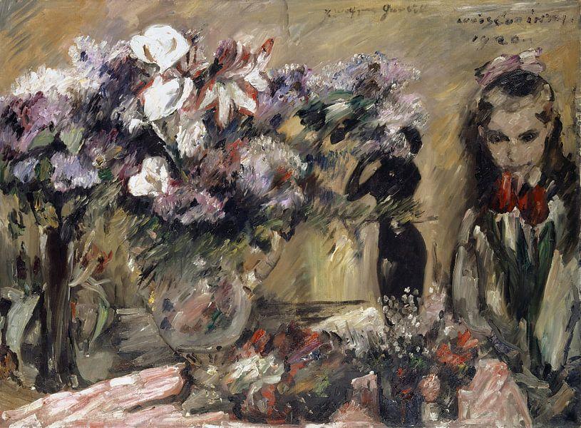 Blumen und Tochter Wilhelmine, Lovis Corinth von Meesterlijcke Meesters
