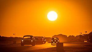 Goodwood Wiederbelebung Sonnenuntergang Kobra, Austin Healey, Jaguar von Bob Van der Wolf