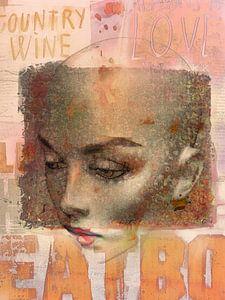 Brown eyes and red lips von Gabi Hampe