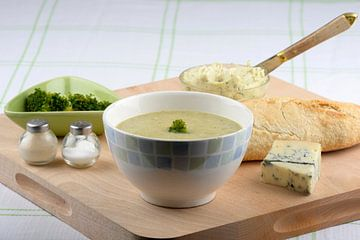 Broccolisoep met roquefort van Barbara Brolsma