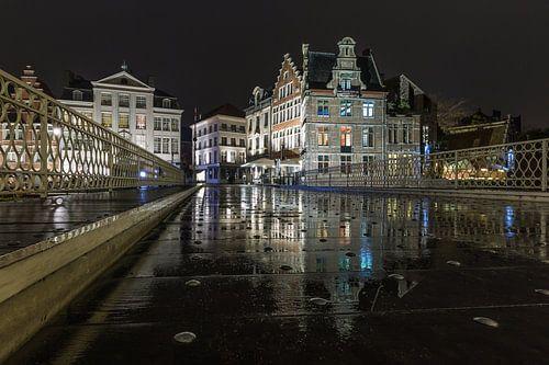 De brug over Leie in Gent