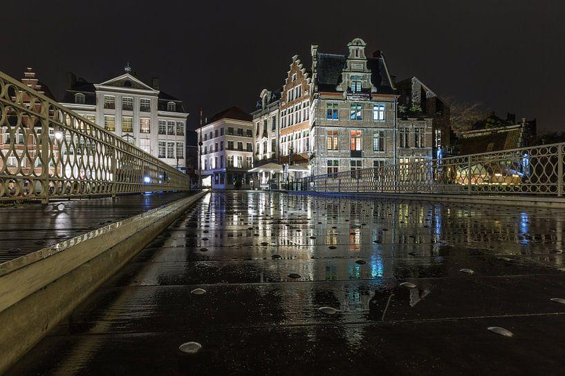 De brug over Leie in Gent van MS Fotografie   Marc van der Stelt