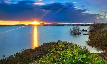 Sonnenuntergang am Salzsee von Larnaca, Zypern von Adelheid Smitt