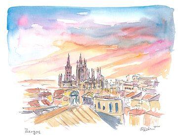 Burgos Spanien Historisches Stadtzentrum und Kathedrale von Markus Bleichner