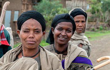 Ethiopië: Marktkoopvrouw (Dogoro) van Maarten Verhees