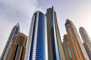 Hochhäuser mit Glasfassaden in Dubai