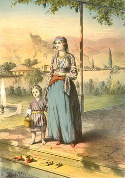 Türkische Frau mit Kind, Henry J. Van Lennep