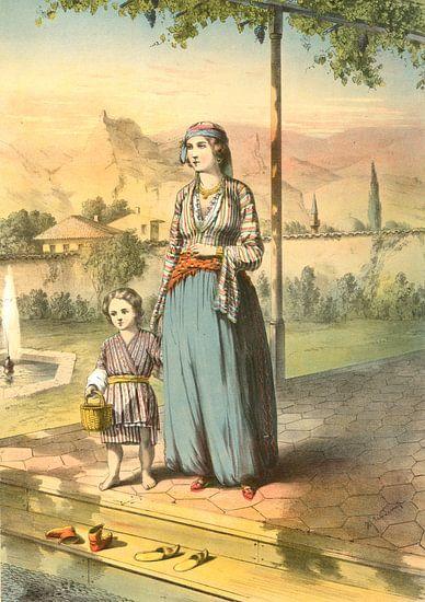 Turkije Turkey Türkiye 1862  Turkse vrouw en kind van Liszt Collection