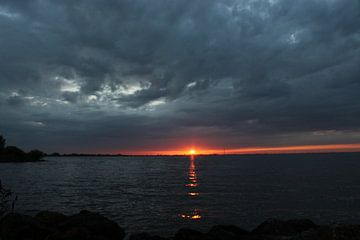Zonsondergang, sunset.