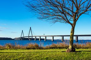 A bridge between Seeland und Falster in Denmark