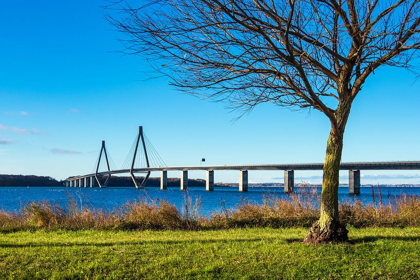 A bridge between Seeland und Falster in Denmark van Rico Ködder