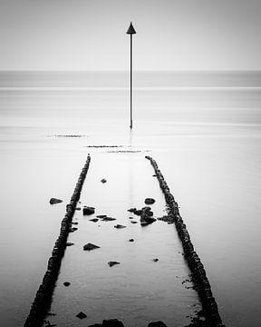 Een golfbreker op Vlieland van Henk Meijer Photography