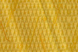 Grafisch patroon, goudgeel