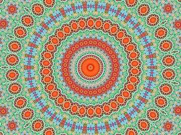 Retro Rozetta 1 (Retro patronen in groen) van Caroline Lichthart