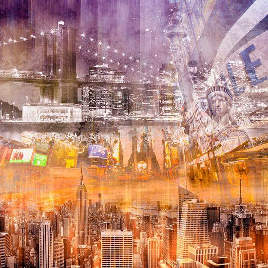 Modern NYC Composing purple/orange