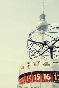 Berlin Toren van TV Clock van