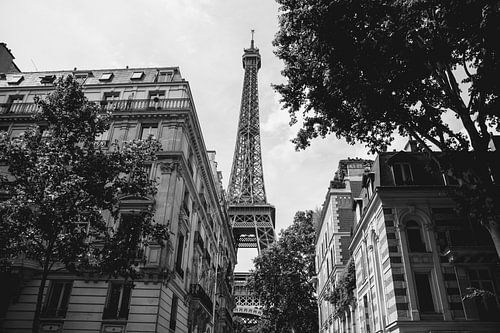 Parijs Eiffeltoren Zwart-Wit Fotografie