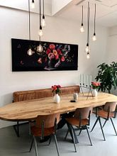 """Klantfoto: Panorama Bloemstilleven """"Still Royal"""" van Sander Van Laar, als print op doek"""
