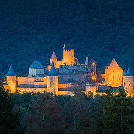 Panorama van het kasteel Bourscheid van Henk Meijer Photography